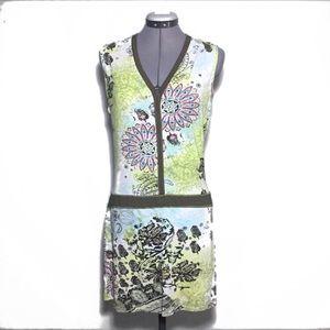 Cache Cache Drop Waist Sheath Dress UK 42 S